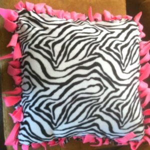 Anti-pill Zebra Fleece Decorative Pillow