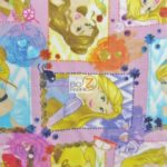 I Am A Princes Patch Frame Disney Polar Fleece Fabric
