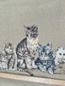 The Kitten Family Baum Textile Mills Polar Fleece Fabric
