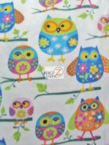Wondering Owls Baum Textile Mills Polar Fleece Fabric