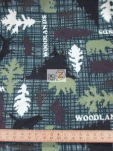 Woodlands Green Baum Textile Mills Polar Fleece Fabric
