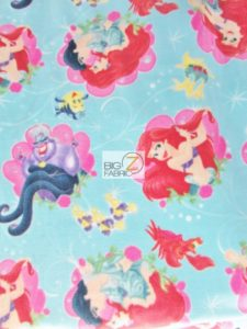 Ariel Character Toss Polar Fleece Fabric