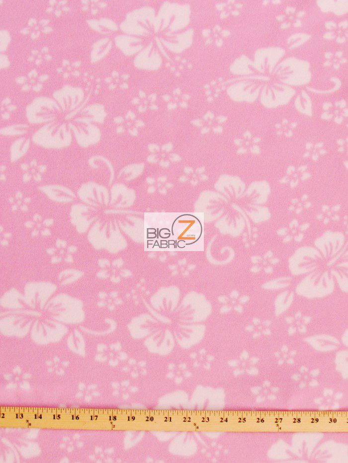 Fleece Printed Fabric Flower