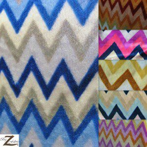 Chevron Zig Zag Microfleece Fabric