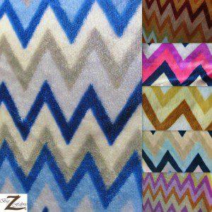 Chevron Zig Zag Microfleece Fabric