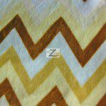 Chevron Zig Zag Microfleece Fabric Brown