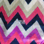 Chevron Zig Zag Microfleece Fabric Fuchsia