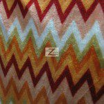 Chevron Zig Zag Microfleece Fabric Orange