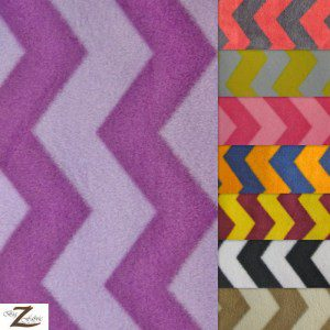 Wholesale Zig Zag Chevron Polar Fleece Fabric