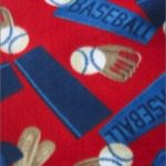 Wholesale Baseball Polar Fleece Fabric Ball Bat Red
