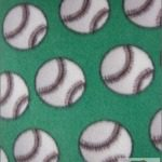 Wholesale Baseball Polar Fleece Fabric Green