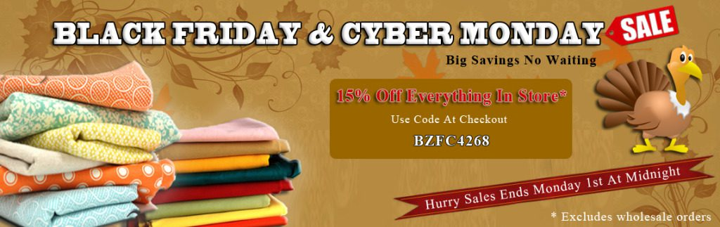 Black Friday & Cyber Monday Wholesale Fleece Fabric Sale