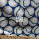 Wholesale Baseball Polar Fleece Fabric Blue