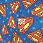 Wholesale Superman DC Comics Polar Fleece Fabric Emblem Toss