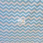 Wholesale Zig Zag Chevron Polar Fleece Fabric Multi Blue