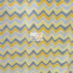 Wholesale Zig Zag Chevron Polar Fleece Fabric Multi Yellow