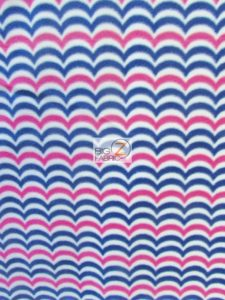 Wholesale Zig Zag Chevron Polar Fleece Fabric Wavy
