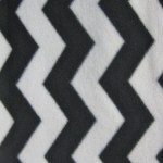 Zig Zag Chevron Polar Fleece Fabric Black White
