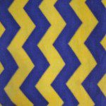 Zig Zag Chevron Polar Fleece Fabric Blue Yellow