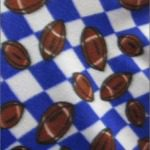 Wholesale Football Polar Fleece Fabric Checkered White Purple