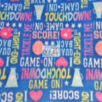 Wholesale Football Polar Fleece Fabric Words Toss
