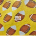 Wholesale Football Polar Fleece Fabric Yellow 2