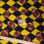 Wholesale Football Polar Fleece Fabric Yellow Black Checkered