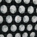 Volleyball Polar Fleece Fabric Net Black