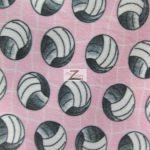 Volleyball Polar Fleece Fabric Net Pink