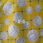 Volleyball Polar Fleece Fabric Net Yellow
