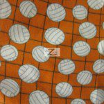 Volleyball Polar Fleece Fabric Net Orange
