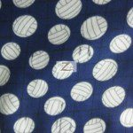 Volleyball Polar Fleece Fabric Net Purple