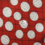 Volleyball Polar Fleece Fabric Net Red