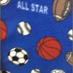 Fleece Printed Fabric Sports Mix All Star