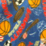 Fleece Printed Fabric Sports Mix Three Sports Red