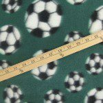 Soccer Print Polar Fleece Fabric Green