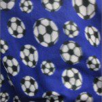 Soccer Print Polar Fleece Fabric Purple