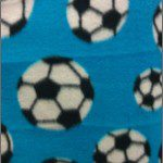 Soccer Print Polar Fleece Fabric Turquoise