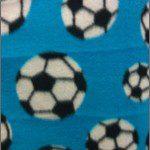 Soccer Print Polar Fleece Fabric Turquoise