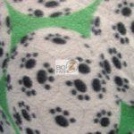Wholesale Soccer Football Polar Fleece Fabric Paw Balls Green