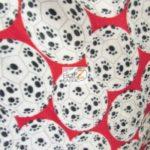 Wholesale Soccer Football Polar Fleece Fabric Paw Balls Red
