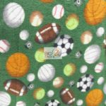 Wholesale Sports Mix Polar Fleece Fabric Assorted Green