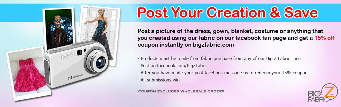 Post Your Wholesale Fleece Fabric Creation & Save