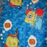 SpongeBob SquarePants Polar Fleece Fabric Hamburger Dreaming