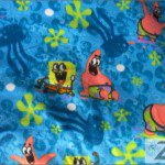 SpongeBob SquarePants Polar Fleece Fabric Patrick Underwater