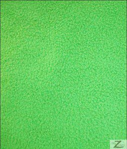 Wholesale Solid Polar Fleece Fabric Lime Green