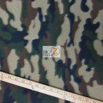 Camo Print Fleece Fabric By The Roll Army