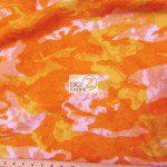 Camo Print Fleece Fabric By The Roll Orange