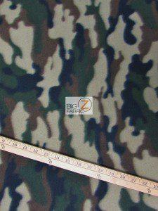 Wholesale Camouflage Fleece Fabric Army