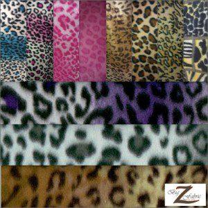 Fleece Printed Fabric Animal Leopard Roll